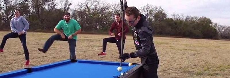 Dude Perfect, trick pool shots