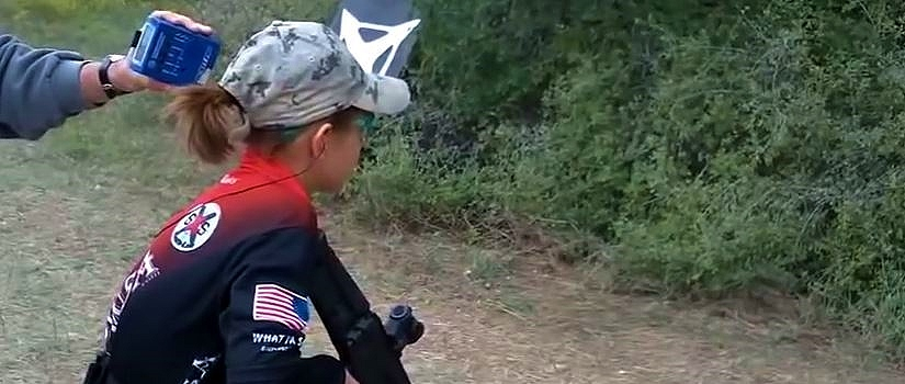 Young Lady Rocks a Gun Course