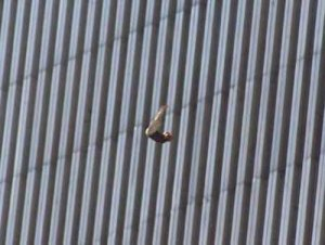 Woman jumps to her death on September 11, 2001. Photo: crystalinks.com (AP Photo/Richard Drew)