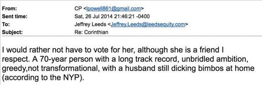 Colin Powell e-mails, Screenshot: WeaselZippers